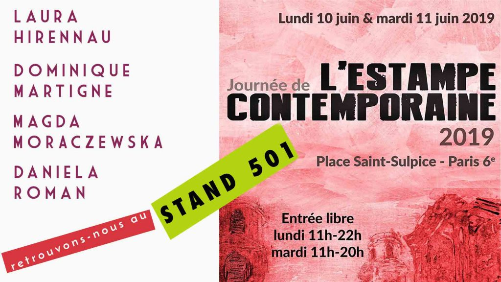 Affiche Journées de l'estampe contemporaine stand 501